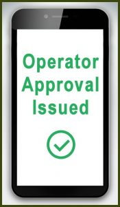 Operator Approval Issued Handset